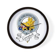 Campbell Clan Badge Wall Clock