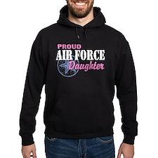 Proud Air Force Daughter Hoodie
