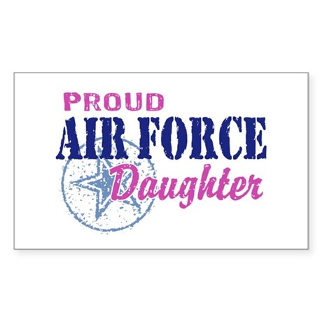 Proud Air Force Daughter Sticker (Rectangle)