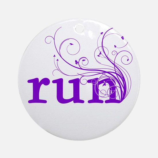run Ornament (Round)