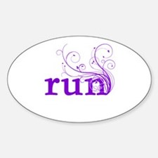 run Sticker (Oval)