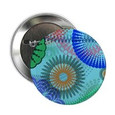 "Cool Christmas hippie 2.25"" Button"