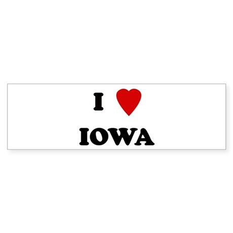 I Love Iowa Bumper Sticker