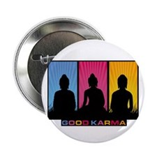 "Good Karma Buddhas 2.25"" Button"