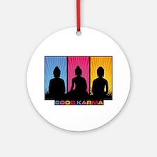 Good Karma Buddhas Ornament (Round)