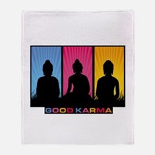 Good Karma Buddhas Throw Blanket