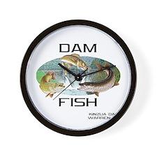 Dam Fish Wall Clock