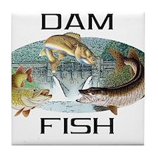 Dam Fish Tile Coaster
