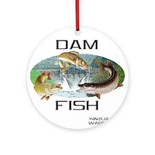 Dam Fish Ornament (Round)