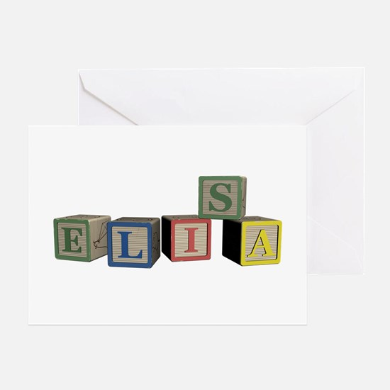 Elisa Alphabet Block Greeting Card
