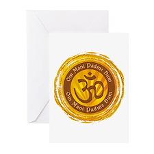 Tibetan Mantra Om Symbol Greeting Cards (Pk of 10)