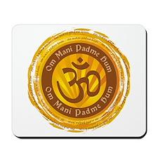 Tibetan Mantra Om Symbol Mousepad