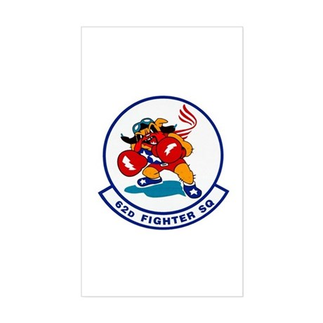 62d Fighter Squadron Rectangle Sticker