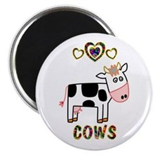 """Cow 2.25"""" Magnet (10 pack)"""