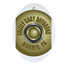Grizzly Gary Outdoors Ornament (Oval)