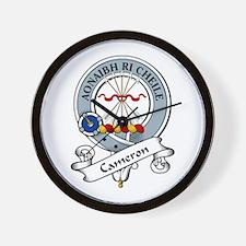 Cameron Clan Badge Wall Clock