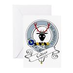 Calder Clan Badge Greeting Cards (Pk of 10)