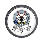 Calder Clan Badge Wall Clock