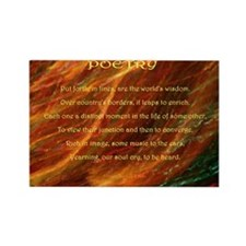 Poetry (Acrostic Poem) Rectangle Magnet