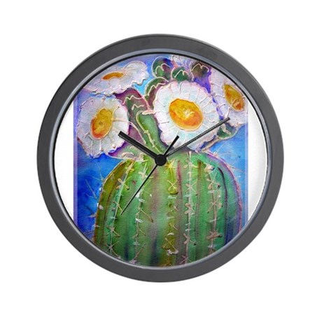 Cactus Awesome Wall Clock By Meowries