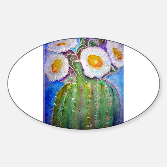 Cactus, awesome, Sticker (Oval)