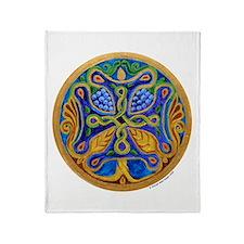 Armenian Tree of Life Cross Throw Blanket