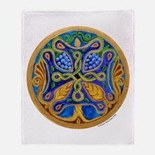 Armenian Tree of Life Cross Throw Blanket
