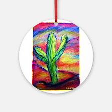 Cactus, Colorful, Ornament (Round)