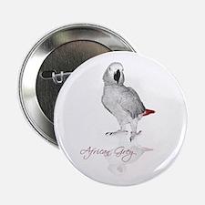 "African Grey Parrot 2.25"" Button"