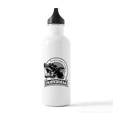 Doberman white Water Bottle