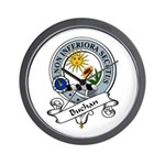 Buchan Clan Badge Wall Clock