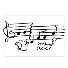 White Kitty Notes Postcards (Package of 8)
