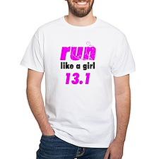 run like a girl 13.1 Shirt