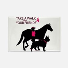Cute Think pink Rectangle Magnet (10 pack)