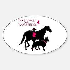 Cute Save horse Sticker (Oval)