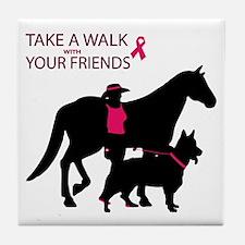 Unique Think pink Tile Coaster