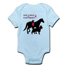 Cute Girls pink horse Infant Bodysuit