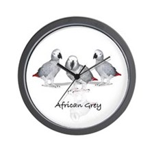 african grey parrot Wall Clock