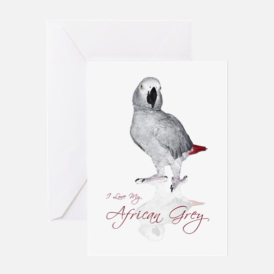 i love my african grey Greeting Card