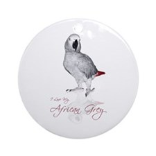 i love my african grey Ornament (Round)