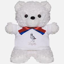 i love my african grey Teddy Bear