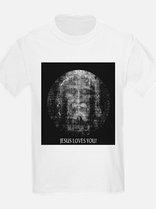 Jesus Loves You! Shroud of Tu Kids T-Shirt