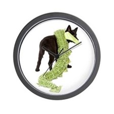 Green Dragon Puppy Wall Clock