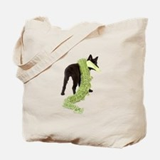 Green Dragon Puppy Tote Bag