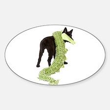 Green Dragon Puppy Decal