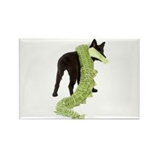 Green Dragon Puppy Rectangle Magnet