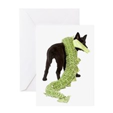 Green Dragon Puppy Greeting Card
