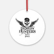 Demon Hunters Skull Wings black Ornament (Round)