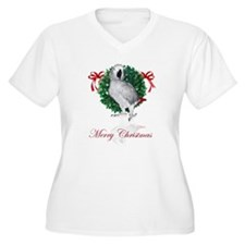 african grey christmas T-Shirt