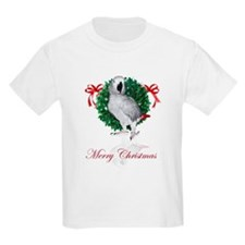 african grey christmas T-Shirt